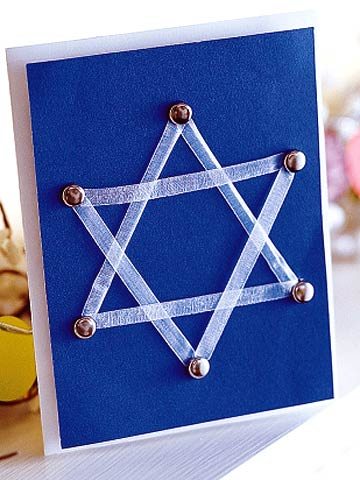 Laced Hanukkah Card