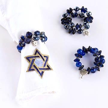 Hanukkah Charm Napkin Rings
