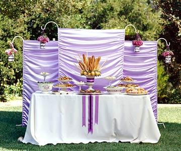Backyard Wedding Reception Menu