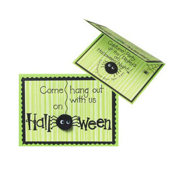 Little Spider Halloween Party Invitation