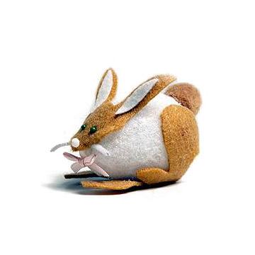 Egg and Felt Rabbit