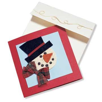 String Snowman Card