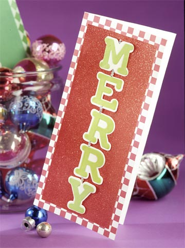 Jiggling Letters Christmas Card