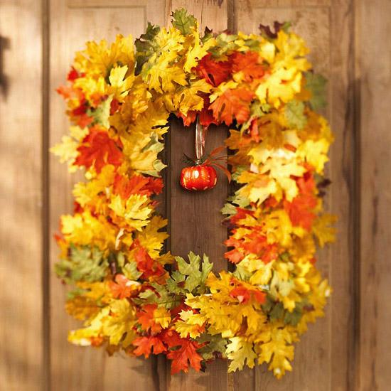 Rectangular Leafy Wreath