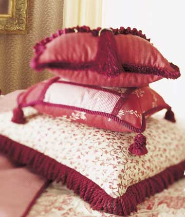 Red and Restful Pillows