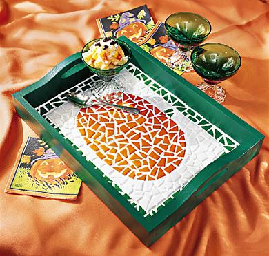 Mosaic Pumpkin Tray