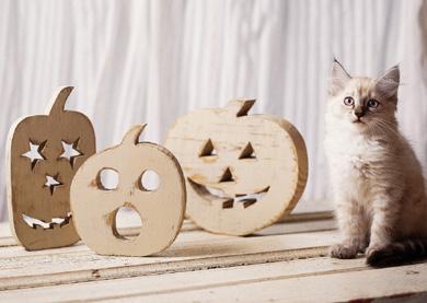 Spooky Wooden Pumpkins