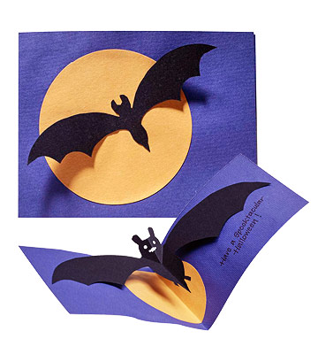Batty Halloween Card