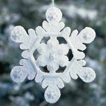 Winter Wool Snowflake