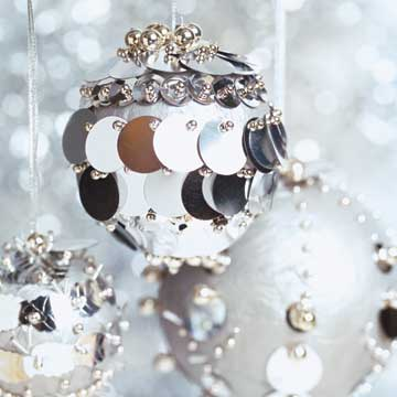 Silver-Spangled Ornaments