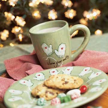Warm-Your-Mitts Plate and Mug