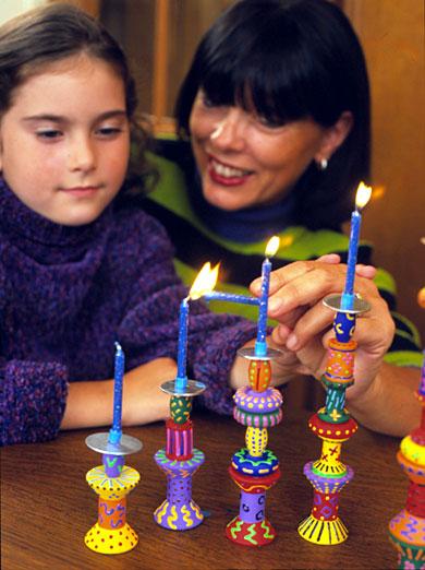 Colorful Mini Menorah