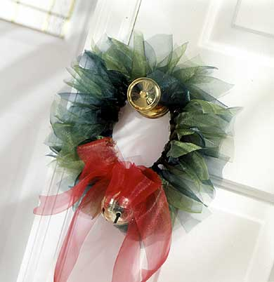 Ribbon Doorknob Wreath