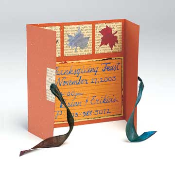 Thanksgiving Gatefold Invitation