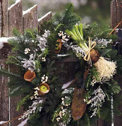 winter welcome - Christmas Fence Decorations