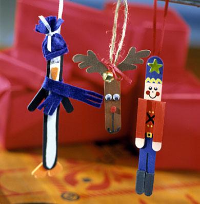 Stick Figure Ornaments