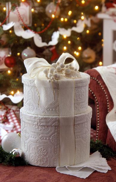 White Christmas Boxes