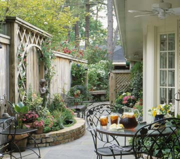 because a courtyard is an extension of the house it is typically furnished in much the same way