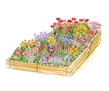 Easiest gardens annual raised bed garden plan mightylinksfo Image collections