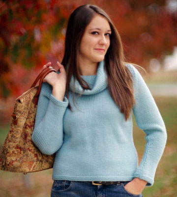 Too-Cute Knit Cowl-Neck Sweater