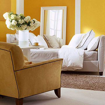 How to Add Color to a Neutral Room