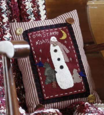 Felt Snowman Pillow