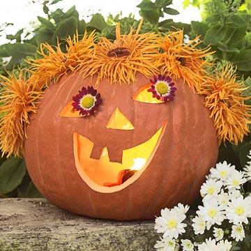 Floral Face Pumpkin