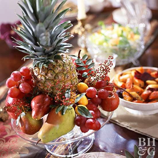 Thanksgiving fruit centerpieces
