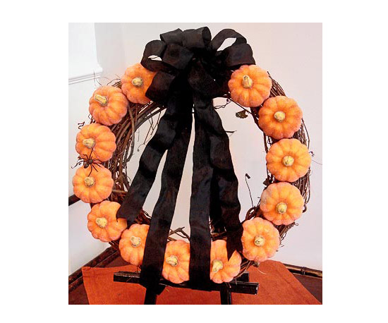 Fall Mini Pumpkin Wreath