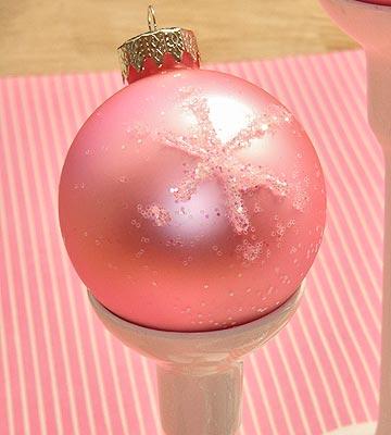 Super Easy Glittered Ornaments