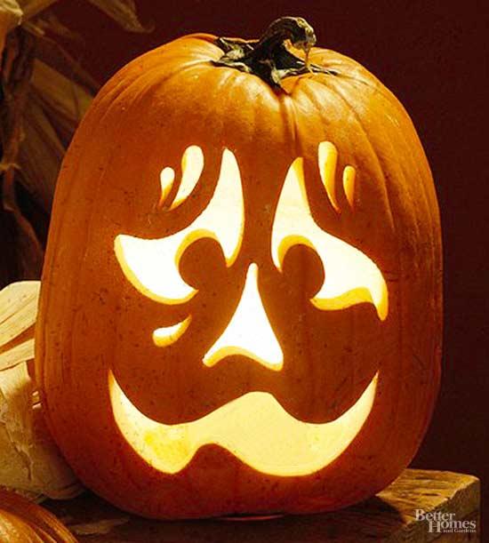 Pumpkin Face Pictures: Nervous Face Pumpkin Stencil