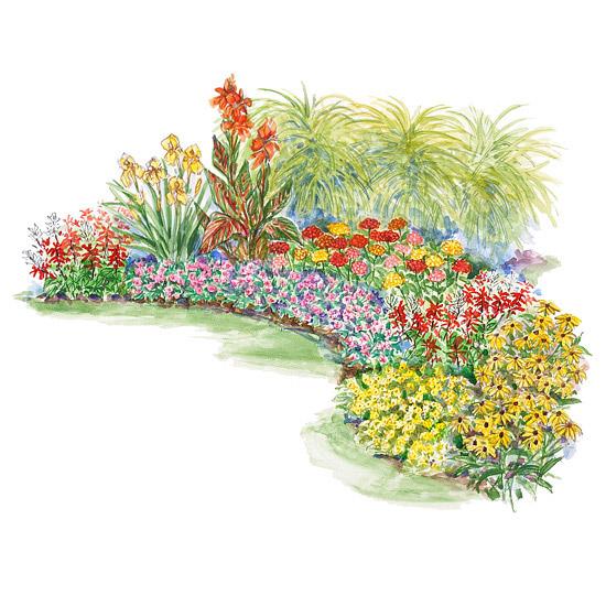 Hot-Summer Garden Plan