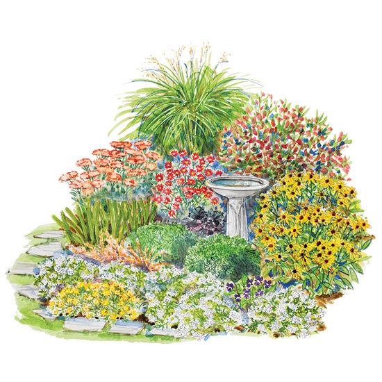 Country-Style Fall-Garden Plan