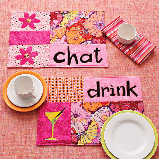 Quilted Funky Place Mats