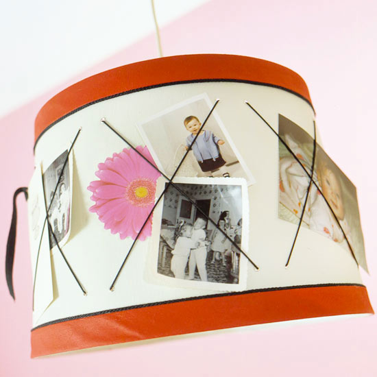 Photo-Filled Lampshade
