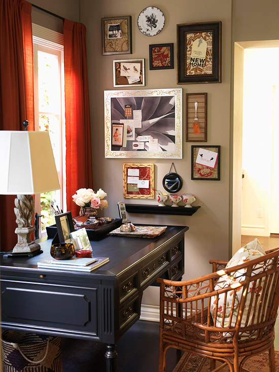 Recipe For A Vintage Home Office: An Organized Home Office With Vintage  Kitchen Accessories