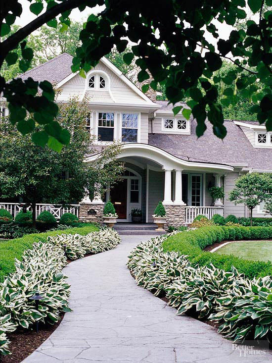 dress up your walkway - Landscaping Design Ideas For Front Of House