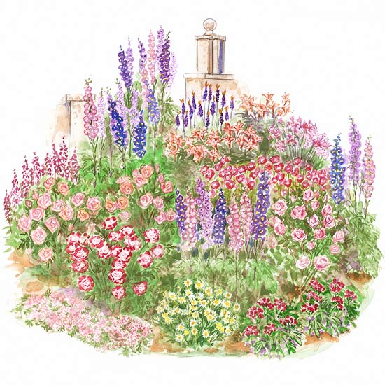 Cotswold Charm Cottage Garden Plan