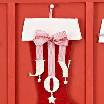 Make a Holiday Joy Stocking
