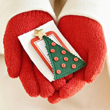 Tree-Shape Gift Card Holder