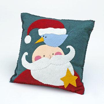 Jolly Ol' Man Applique Pillow