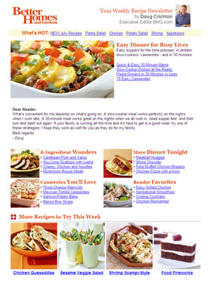 Weekly food recipe newsletter forumfinder