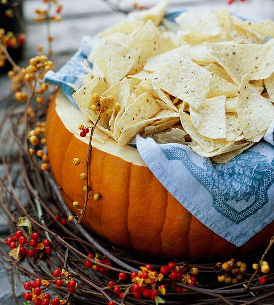 Fall Harvest Dinner Party Menu Ideas Part - 29: Pumpkin Serving Bowl
