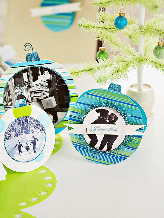 How to Make Paper Photo Ornaments
