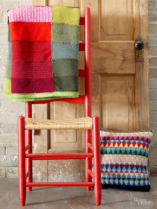 Recycle Sweaters: Make a Throw or Pillow