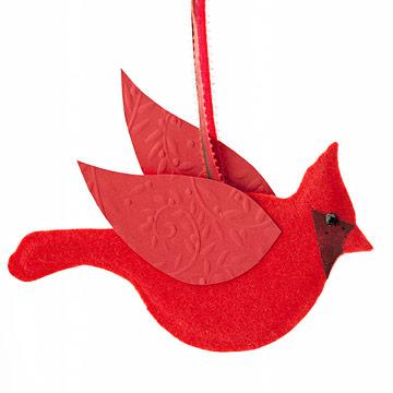 Make Christmas Cardinal and Dove Ornaments