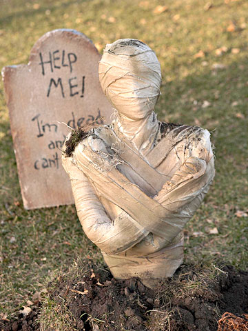 How to Make Creepy Tombstones
