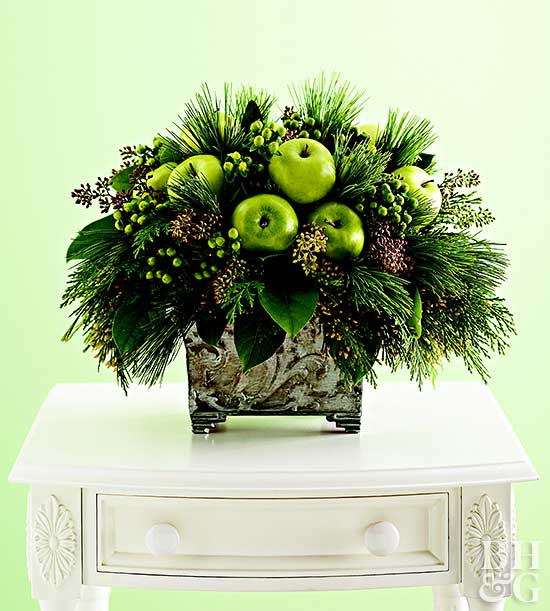 Fresh Green Apple Holiday Centerpiece