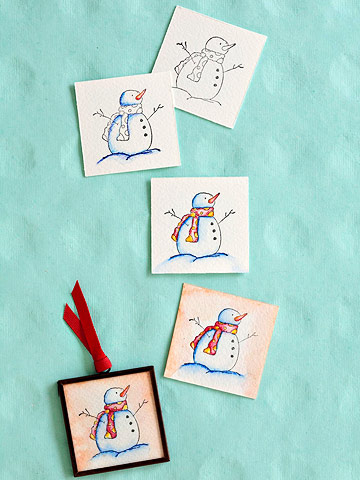 How to Make a Watercolor Ornament