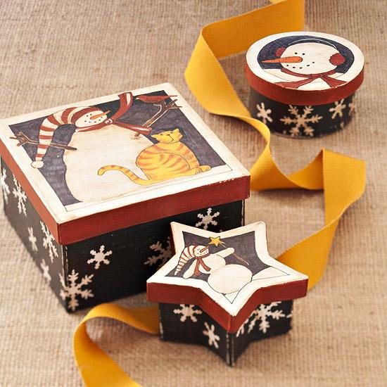 Adorable Snowman Gift Boxes